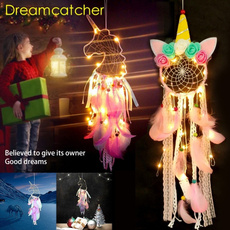 Mini, dreamcatcherdecor, Night Light, Colorful