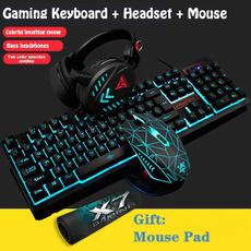 Headset, wiredkeyboard, led, usb