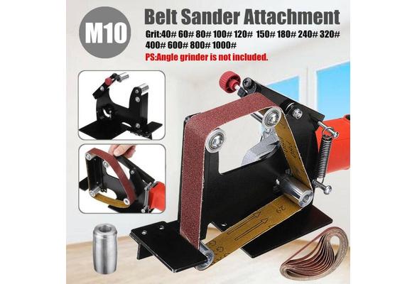 Belt Sander Attachment Metal Wood Sanding Belt Adapter for Spindle M10 Angle Grinder Sanding Belt Adapter