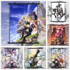 animescroll, swordartonlineposter, Wall Art, sword