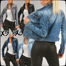 jeanjacket, Plus Size, Coat, denim jacket