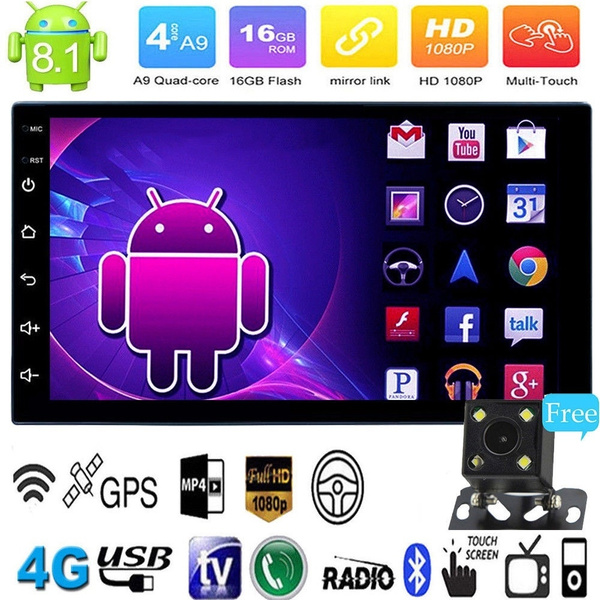 7inch Screen Android 8.1 Car Stereo MP5 Player WiFi GPS FM Radio BT 1+16GB Unit