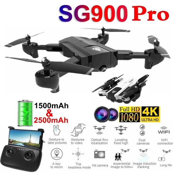 atrakcyjna cena tak tanio sprzedaż uk RC Drone SG900 Pro with 4K/ 720P/ 1080P Camera HD Dual Camera Aerial Camera  Aircraft Gravity Sensing + Real-Time Transmission + Auto Follow + Mobile ...