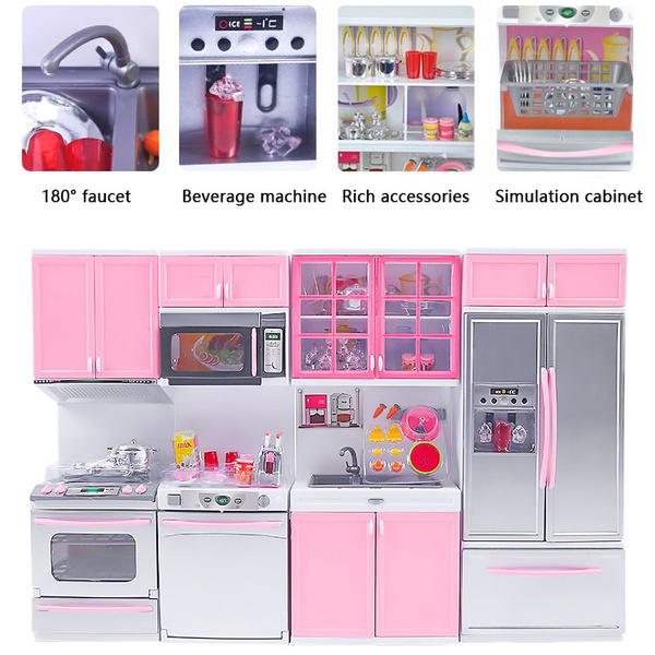 Deluxe Doll Size Kitchen Barbie Sized