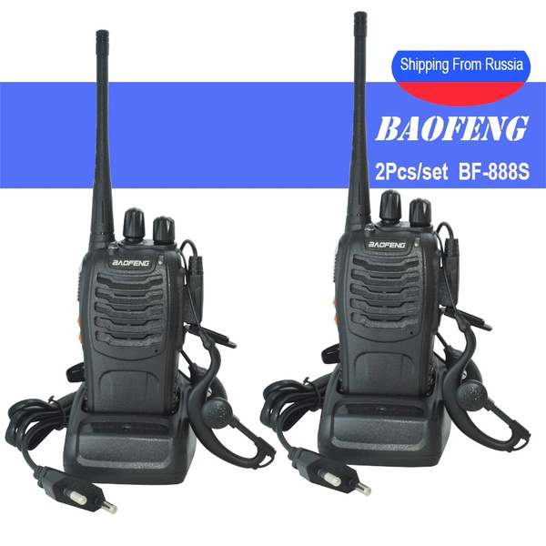 2Pcs/set baofeng BF-888S Walkie Talkie Portable radio station BF888s 5W BF  888S Comunicador Transmitter Transceiver radio set