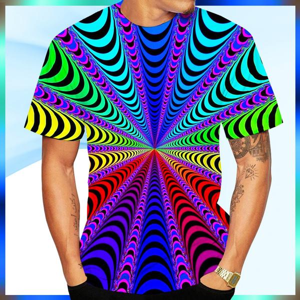 rainbow, vertigo, tshirt men, Summer