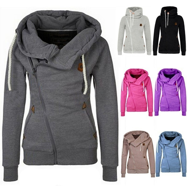 Women Sweater, hooded, Winter, candy color