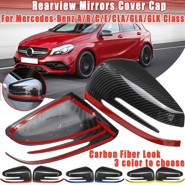 Accessories Mirror Cover Carbon Fiber For Mercedes-Benz CLA GLA GLK Class Caps