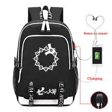 cartoonbag, Backpacks, usb, backpacks for teens