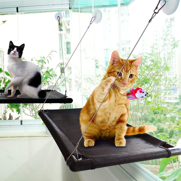 Stupendous Cat Hammock Bed Window Seat With Durable Heavy Duty Suction Cups Cat Bed Heavy Duty 4 Suction Cups Holds Up To 60Lbs Dailytribune Chair Design For Home Dailytribuneorg