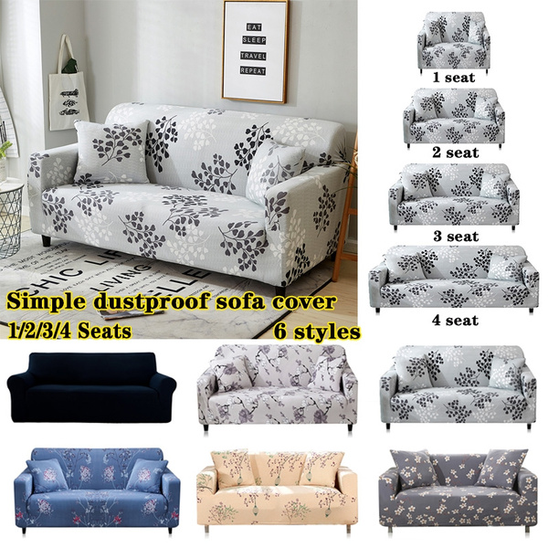 Swell Simple Solid Color Printed Sofa Cover For Polyester Sofa Four Seasons All Inclusive Sofa Stretch Sofa Cover 1 2 3 4 Seat Spiritservingveterans Wood Chair Design Ideas Spiritservingveteransorg