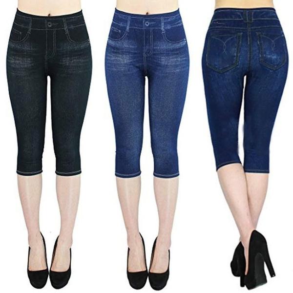capripant, Leggings, Shorts, high waist
