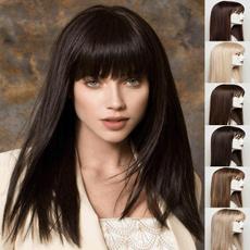 wig, wigs cospay, cosplaywigblack, longstraightwigwithbang