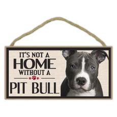 Decor, pitbullterrier, Home & Living, Dogs