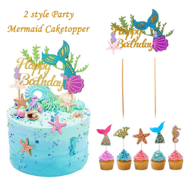 kidsbirthdayparty, mermaidparty, happybirthdaycaketopper, festainfantil