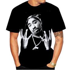Hip Hop, shortsleevestshirt, 3dmentshirt, tupac2paconecktshirt