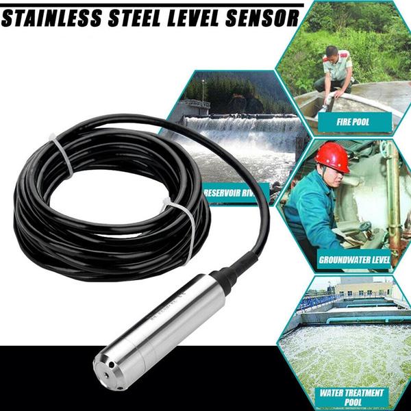 Stainless Steel DC24V 4-20mA Throw-In Type Liquid Level Sensor For  Detecting 0-5m Range Depth