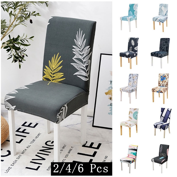 Awesome Forcheer Kitchen Chair Cover Dining Seat Cover Elastic Stretch Slipcover Chair Removable Furniture Covers Anti Dust Spandex Chair Covers 2 4 6Pcs Alphanode Cool Chair Designs And Ideas Alphanodeonline