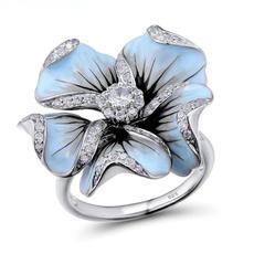 Sterling, Silver Jewelry, DIAMOND, Princess