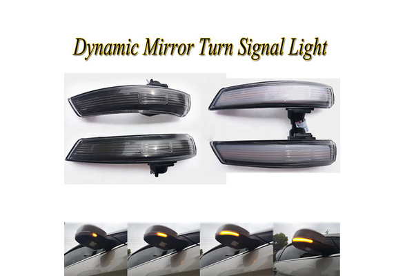 Pair For Ford Focus MK2//MK3 Left+Right Door Side Rearview Mirror Cover Caps New