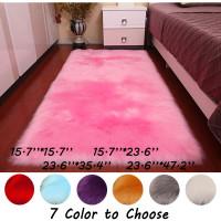 7 Color Choose One Rectangle Sheepskin Hairy Carpet Faux