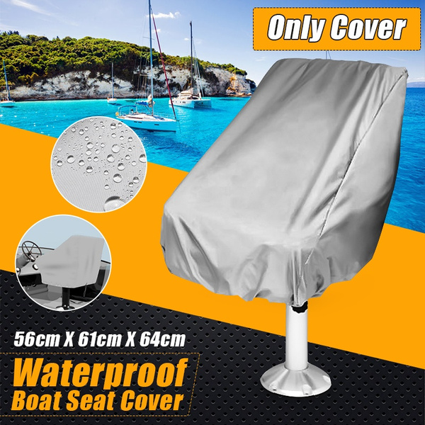 Fantastic 56X61X64Cm Waterproof Pontoon Captain Seat Chair Cover Boat Seat Cover Machost Co Dining Chair Design Ideas Machostcouk