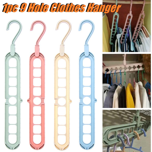 1pc 360° Rotate Multifunction Closet Organizer Foldable Hanger 9 ...