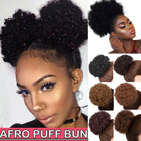 High Puff Short Clip In Ponytail Drawstring Afro Bun Hair Extensions For Fashion Women
