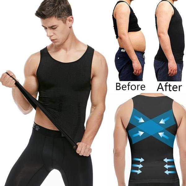 Vest, Fashion, Tank, menslimbodyshaper
