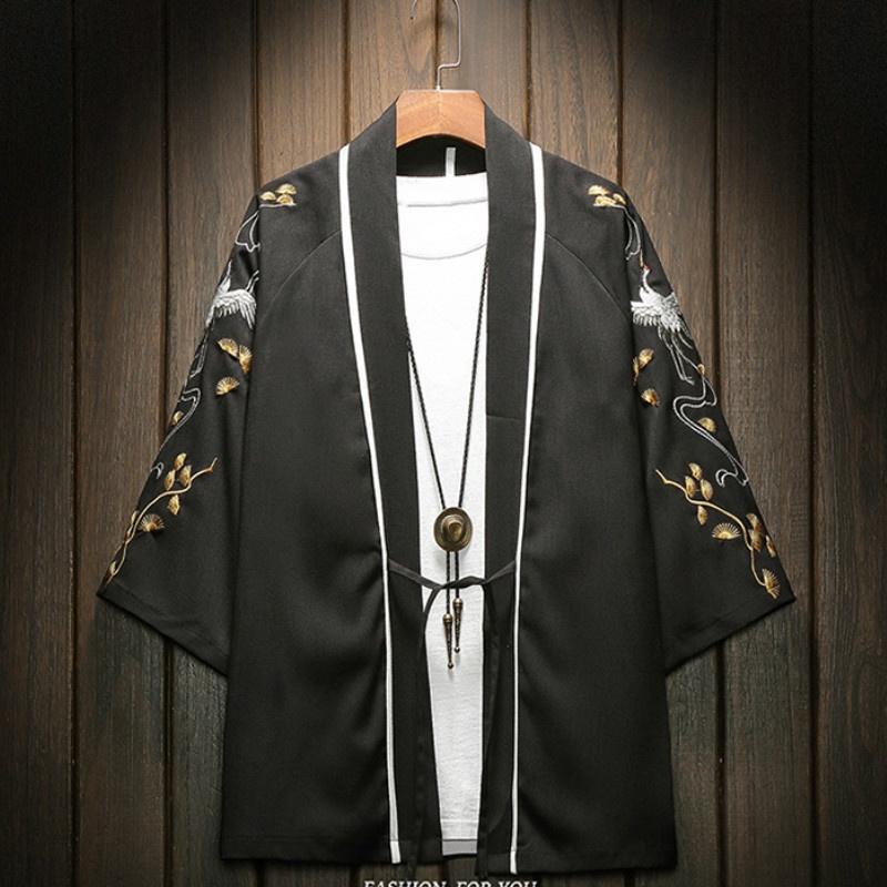 Linen mens jacket Christmas gift Black cardigan for Men Linen cardigan Jacket for man  Linen coat Wedding jacket Gift for him Basic jacket