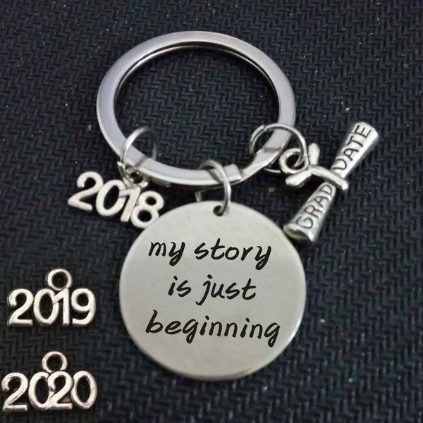 Class Of 2020 Graduation Date.Graduation Graduation Gift 2018 Keychain Graduation Keyring Class Of 2019 2020 Graduate My Story Is Just Beginning