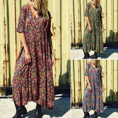 bohemia, Plus Size, floralprintdres, plus size dress