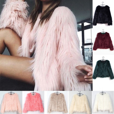 fur coat, Plus size top, fur, winter coat