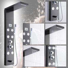 Steel, Bathroom, showerpanel, led