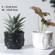 Head, Ceramic, Pot, flowerpot