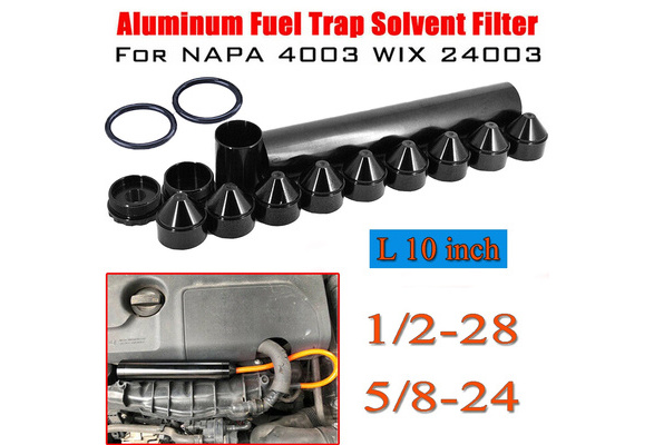 15PCS 1/2-28 5/8-24 1-3/4X10 Aluminum Car FUEL FILTER Solvent Trap for NAPA  4003 WIX 24003 10