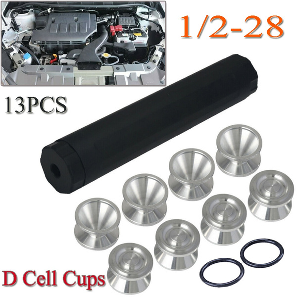 13PCS 1/2-28 Car FUEL FILTER Solvent Trap D Cell Storage Cups with Seal for  NAPA 4003 WIX 24003 L9