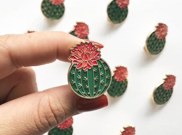 Cactus Women Decoration Fashion Jewelry Brooch Pin by Wish