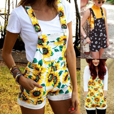 cute, womenstrouser, Shorts, Sunflowers