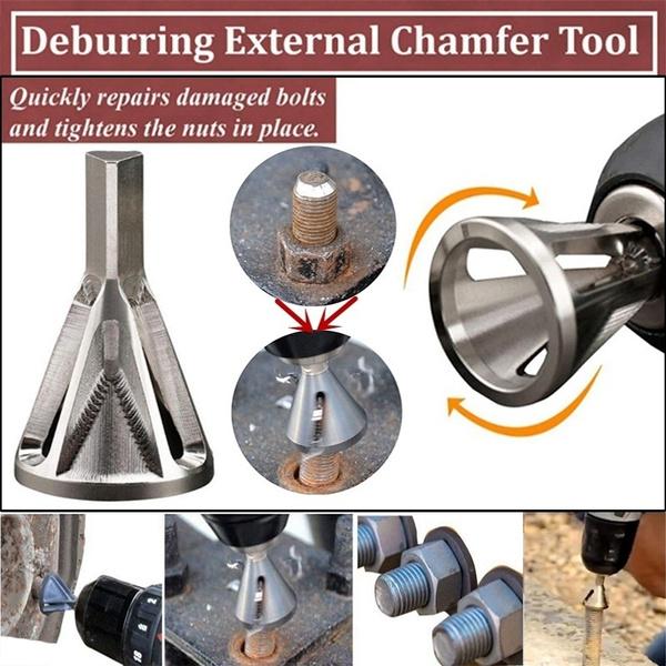2 Deburring External Chamfer Tool Chamfering Device Drill Bit Tool Remove Burr