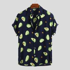 Summer, Plus Size, Shirt, Hawaiian