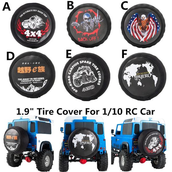 Auto Crawler Leder Spare Wheel Tires Cover für 1//10 RC Crawler Traxxas TRX-4 Neu