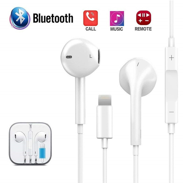 Wired Bluetooth Earphones Earbuds Headphones For Iphone 7 8 Plus X Xr Xs Max Wish