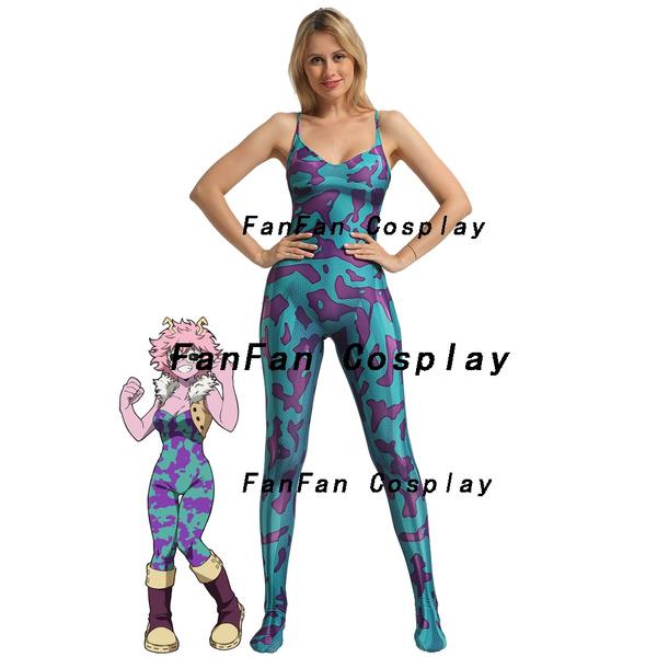 MINA ASHIDO Cosplay Costume 3D Print My Here Anime Halloween Costume Party  Zentai Suit Lycra Spandex Bodysuit Hot Sale
