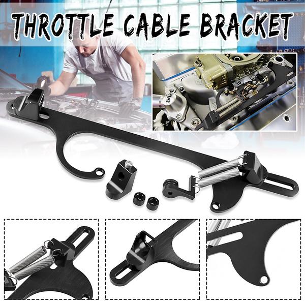 Billet 4150 4160 Aluminum Throttle Cable Carb Bracket Carburetor 350 Black