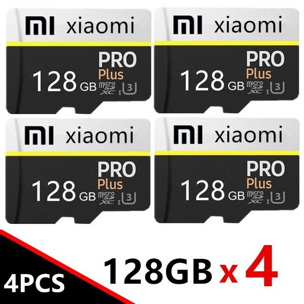 4pcs Xiaomi 128gb Micro Sd Card Pro U3 Memory Card Card Reader Adapter Reader