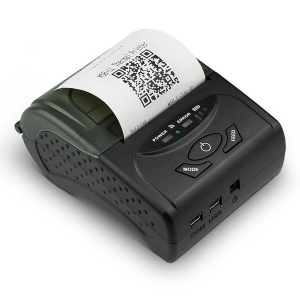 SZTW POS-5807 Thermal Printer Wireless Bluetooth 4 0 Printer Portable  Printer for iOS and Android Systems,58MM USB Thermal Printer Compatible  with