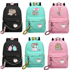 cute, School, Backpacks, pusheen