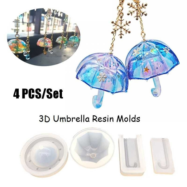3D Umbrella Shape Resin Mold Silicone Mold Epoxy Mold DIY Jewelry Making  (Molds Only)