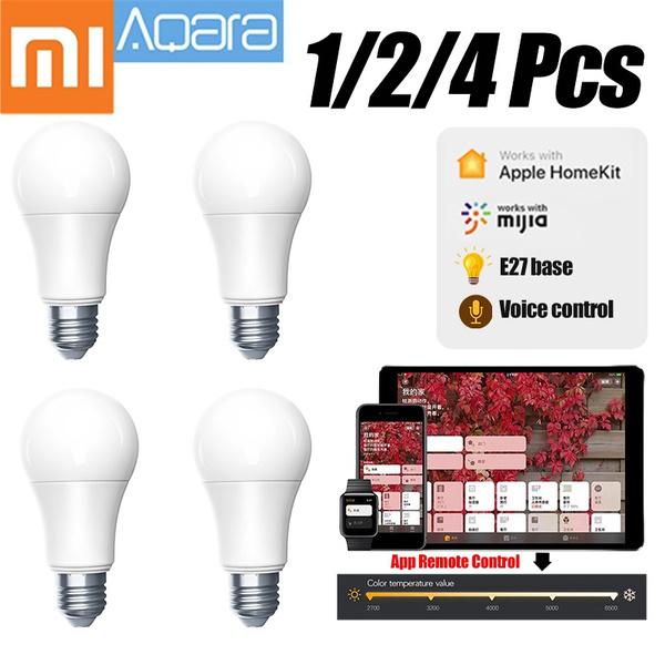 25000 Hours Original Xiaomi Aqara E27 9W Smart LED Light Bulb Smart Bulb  ZNLDP12LM Wifi App Remote Control Work with Apple HomeKit Mi Home APP Mijia